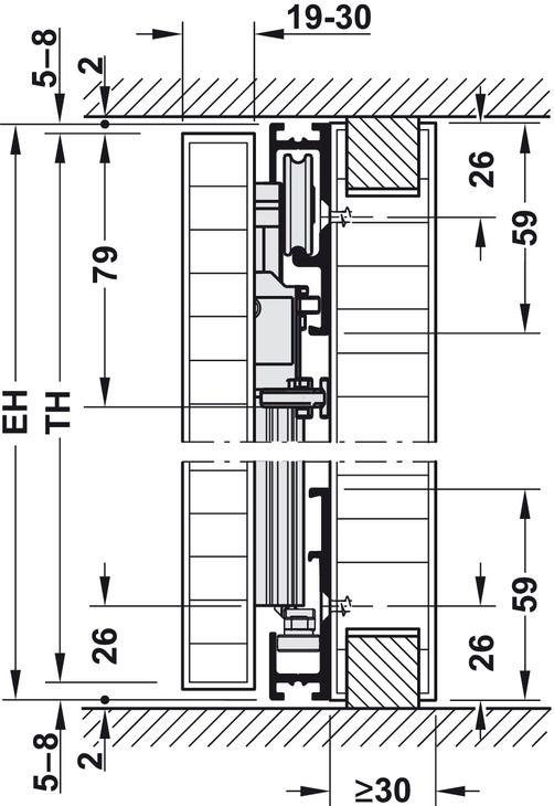 Pivot Sliding Door System For Cabinet Doors Fittings And Runners Hawa Concepta Hafele U K Shop Sliding Door Systems Sliding Cabinet Doors Cabinet Doors