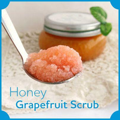 Sweeten up your #skincare routine with this #homemade honey grapefruit #scrub.