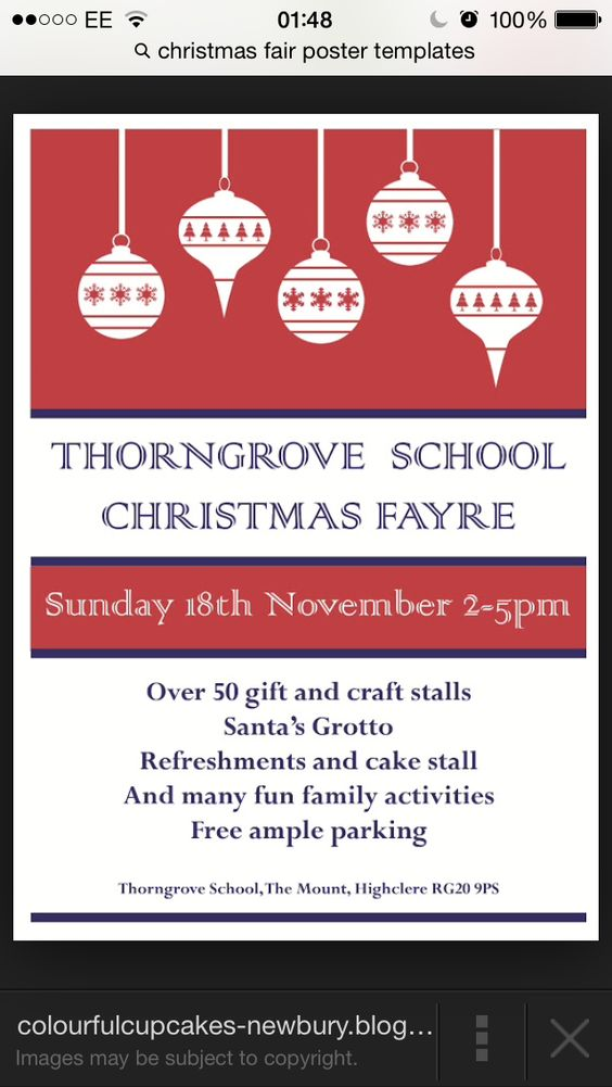 Christmas Fair Poster Idea