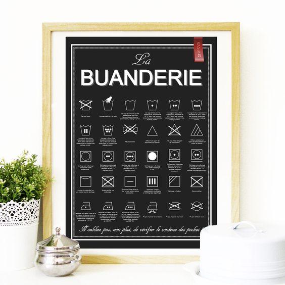 Affiche La Buanderie - à télécharger, à imprimer : Affiches, illustrations, posters par rgb