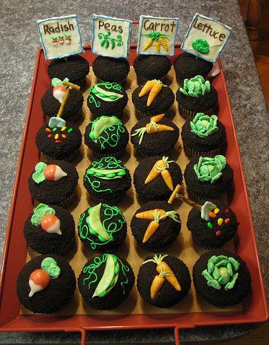 Garden Cupcakes - Too Cute!