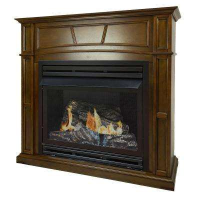 46 In Full Size Ventless Propane Gas Fireplace In Heritage