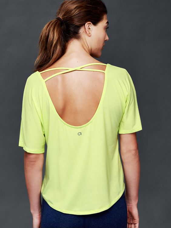 neon criss-cross top