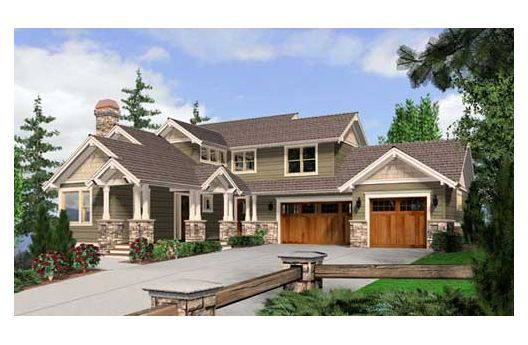 Northwest style home 2 story with finished basement for Pacific northwest house plans