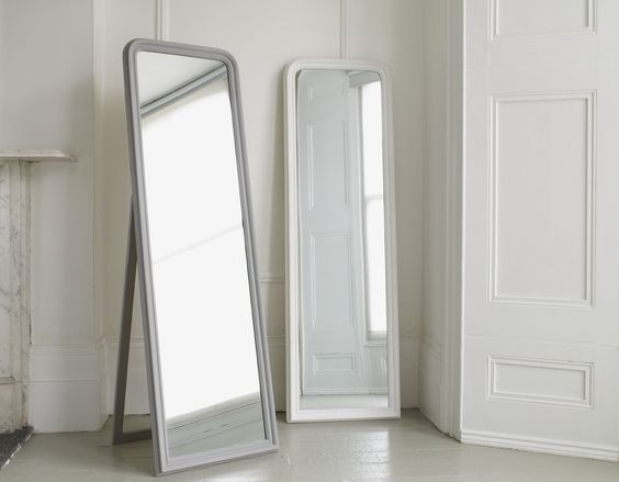 A simple yet elegant full length mirror available in for Gray full length mirror