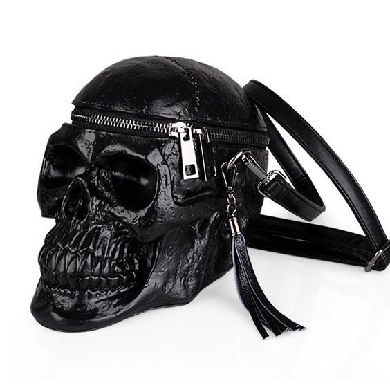 Skeleton Eyes Leather Sling Bag /& Women/'s Handbag
