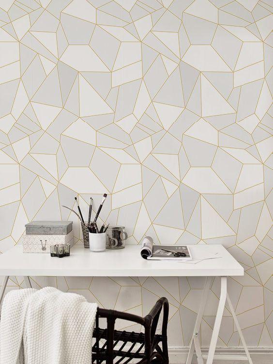 Light Triangles Removable Wallpaper Light Grey Wall Mural Etsy Light Grey Walls Removable Wallpaper Grey Walls