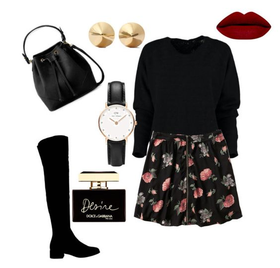"""""""Untitled #5"""" by explorer-14540018611 ❤ liked on Polyvore featuring Abercrombie & Fitch, Office, Eddie Borgo, Daniel Wellington and Dolce&Gabbana"""