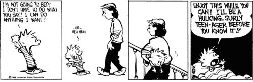 Calvin and his I-mean-business-mom