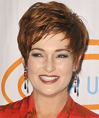 Carolyn Hennesy Hairstyle: Formal Short Straight Hairstyle
