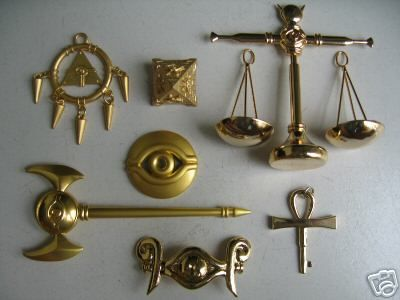 Yugioh Millenium Puzzle Ring Scale Rod Key Necklace Eye   eBay