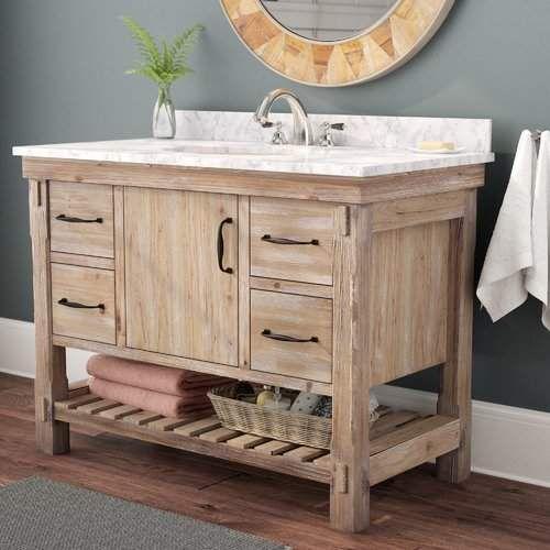 Union Rustic Loftin 42 Single Bathroom Vanity Set Double Vanity Bathroom Bathroom Vanity Single Bathroom Vanity