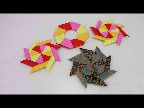 Origami Ninja Stern falten | modularen Stern selber machen | Spielzeug & Deko | Weihnachten - YouTube