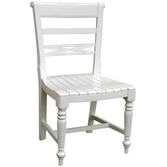 Cottage Style Wooden Seat Side Chair
