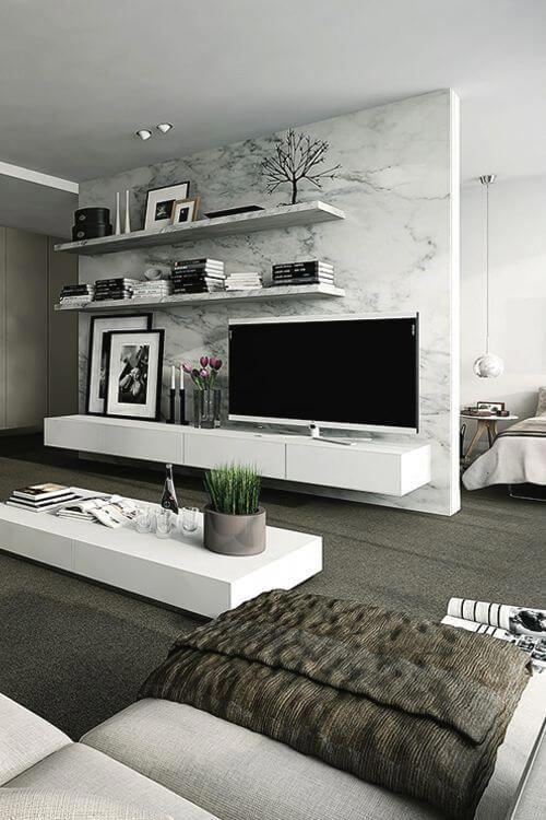40 Tv Wall Decor Ideas Inspirational Tv Wall Design Decoholic Apartment Living Room Living Room Decor Modern Modern Room