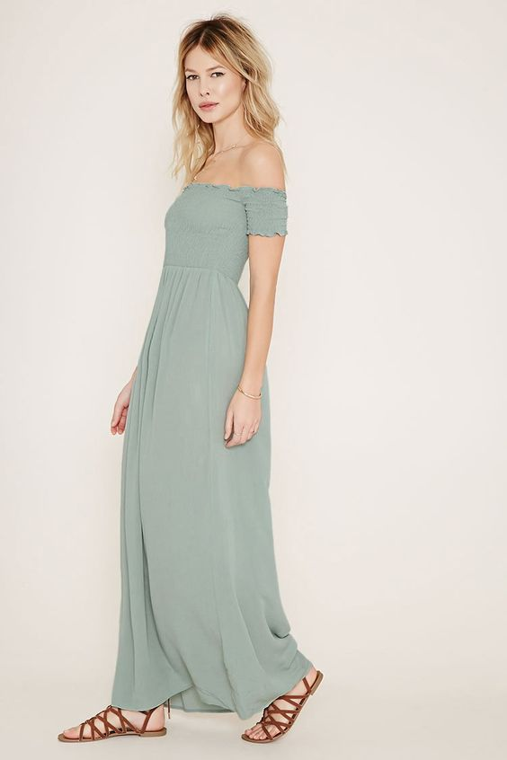 Smocked Maxi Dress - Dress Xy