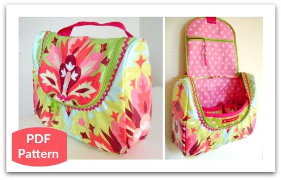 Sew a Hanging Toiletry Travel Bag