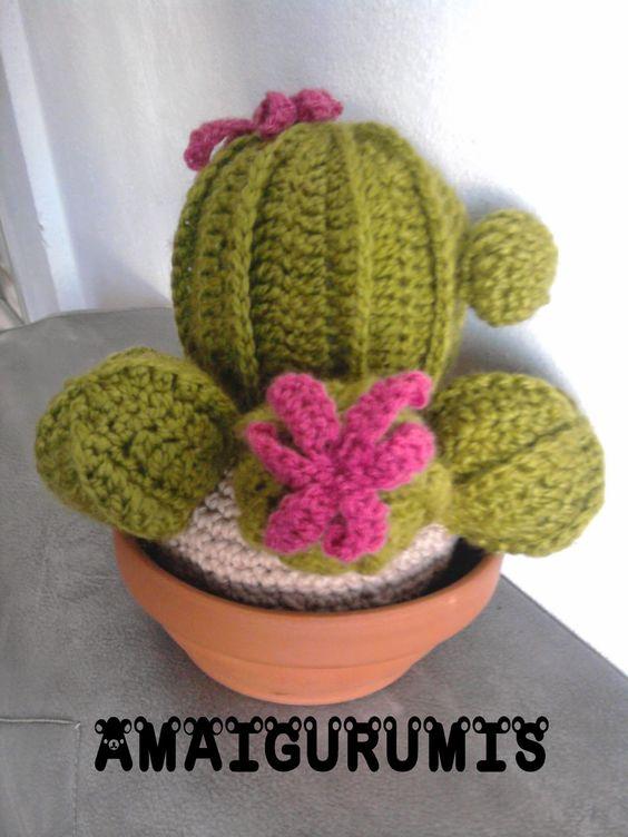 Cactus Fantasia Amigurumi Tejidos A Crochet : Cactus tejido al crochet. Mis amigurumis Pinterest ...