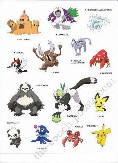 Pokemon Alola Stickers 6998 Pokemon Alola Pokemon Pokemon Toy
