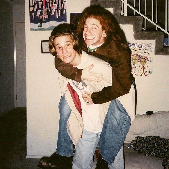 """#tbt The pre-uber way @sethgreen and I used to get around town. #ThinkWeListenedTo PearlJamAtAll"" - Breckin Meyer"
