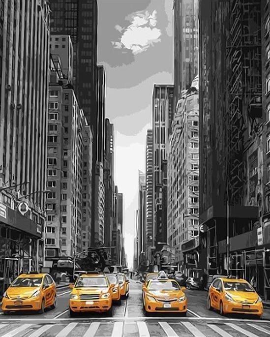 New York Taxi Kate Son Decor Artsandcraftnewyork Paint By Number Paint By Number Kits Painting