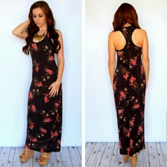 Floral maxi dress. Maxi floral dress only tried it out but it's way too long for me. New! Reposh. Dresses Maxi