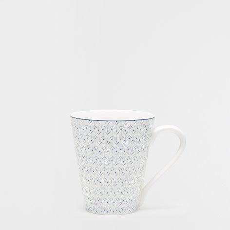 BLUE FLORAL PORCELAIN MUG - Mugs - Tableware - Home Collection - SALE | Zara Home United States