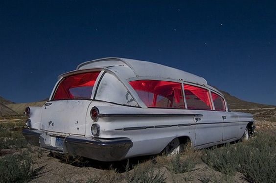 THe fruit of love is service. Mother Tersea. 1960 Pontiac Ambulance