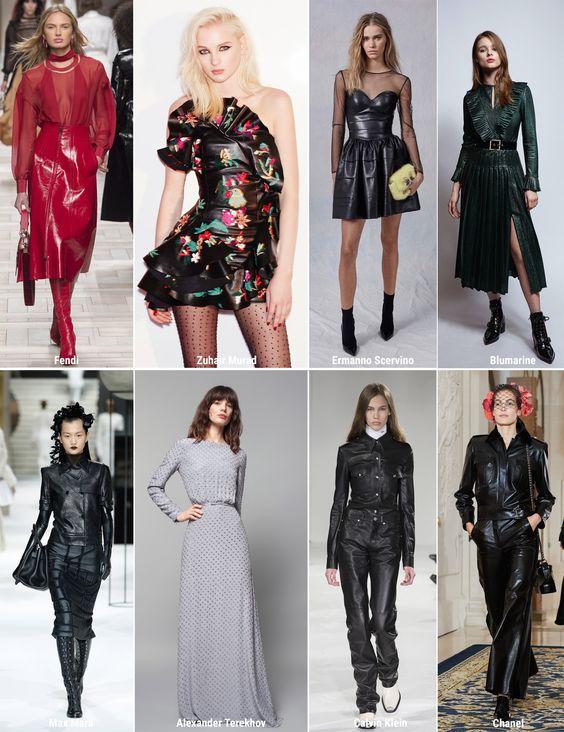 Кожа - модный тренд осень-зима 2017-2018. Уже не первый сезон на пике славы кожа, используемая дизайнерами в своих моделях.