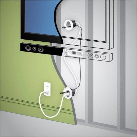 Legrand In Wall Soundbar Power Kit White Wmc801 Best Buy Tv Wall Wall Mounted Tv Wall Mounted Tv Decor