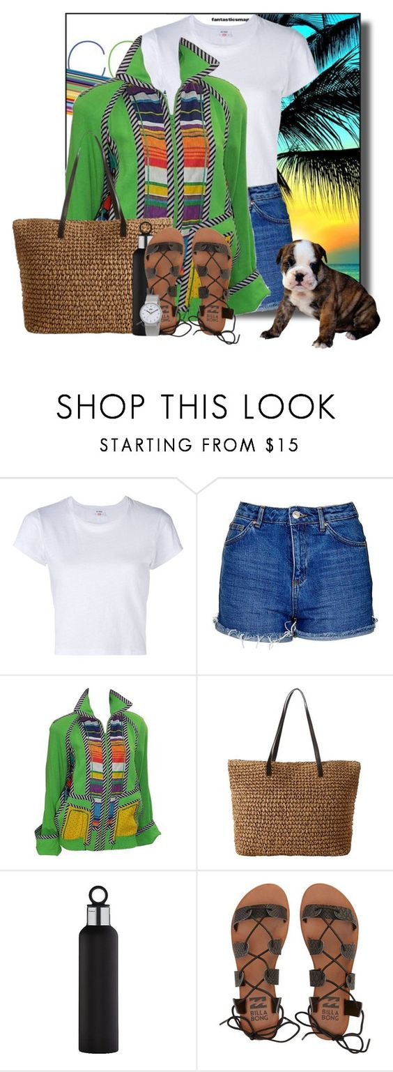 """""""Colorful prints"""" by pusja76 ❤ liked on Polyvore featuring RE/DONE, Topshop, Koos van den Akker, blomus, Billabong and Braun"""