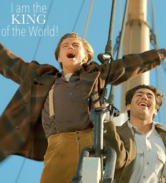 Image result for i'm the king of the world