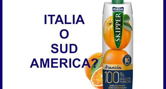 """Il succo d'arancia è prodotto in Italia, nella """"terra delle cose buone"""", ma con…"""