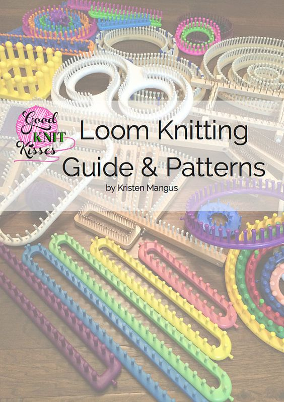 Loom Knitting Stitch Guide 2 : Loom Knitting Guide & Patterns by GoodKnitKisses on Etsy Loom Knit Patt...