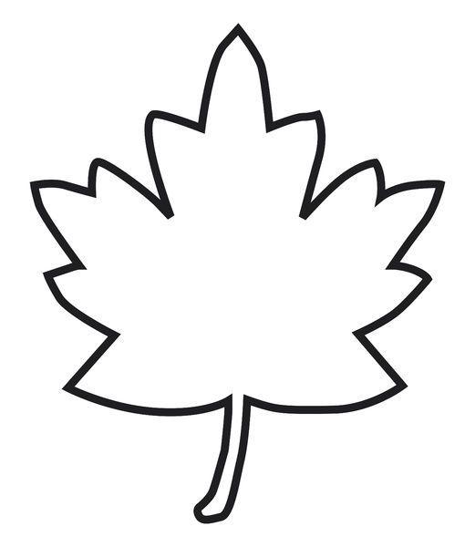 Print Of Black And White Digital Illustration Of Maple Leaf Outline In 2020 Leaf Outline Digital Illustration Poster Prints