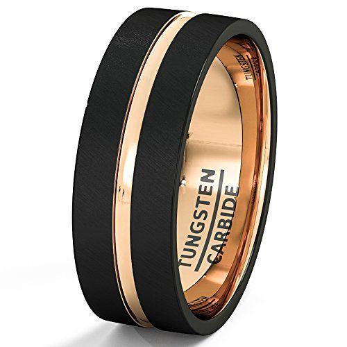 Duke Black tungsten rings and Flats on Pinterest