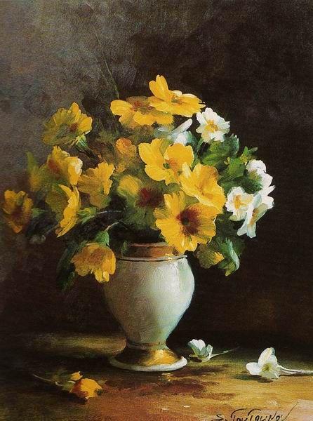 tableaux fleurs toutounov