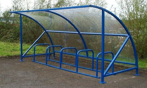 Metal Bicycle Shelters : Bike room racks velodome shelters provides a wide range