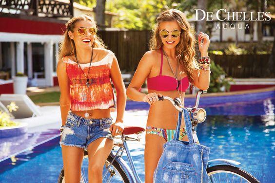 Coleção beachwear De Chelles Acqua - Garota Verão  #modapraia #beachwear vendas@dechelles.com.br