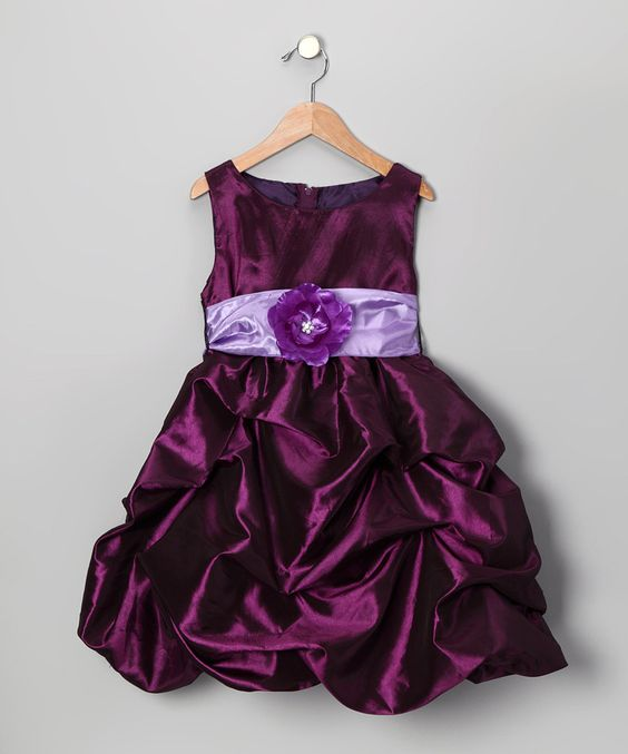 Kid Fashion Plum Bon Bon Taffeta Dress    My Princess would die for this!