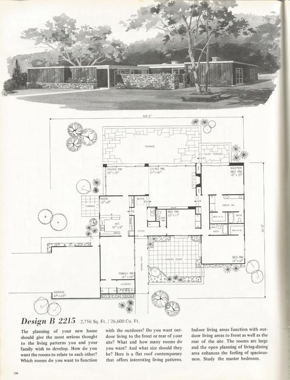 Vintage House Plans  Mid Century Homes  s Homes   s s s    Vintage House Plans  Mid Century Homes  s Homes