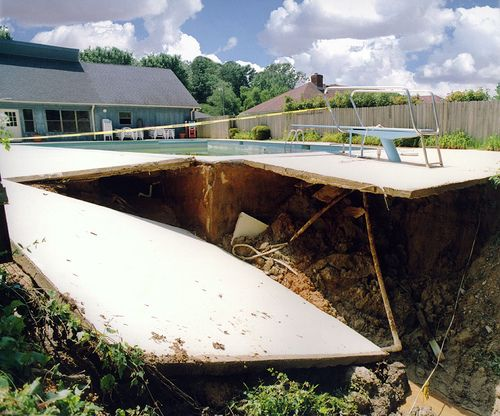 Pool Deck Collapse Jobsites Pinterest Pools Decks