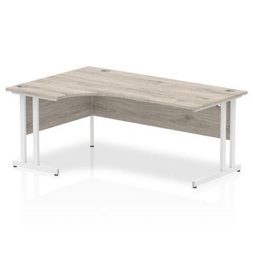 Zetta L Shaped Executive Desk Ebern Designs Size 73 X 160 X 80 Orientation Left Orientation In 2020 Grey Desk Grey Oak Home Decor