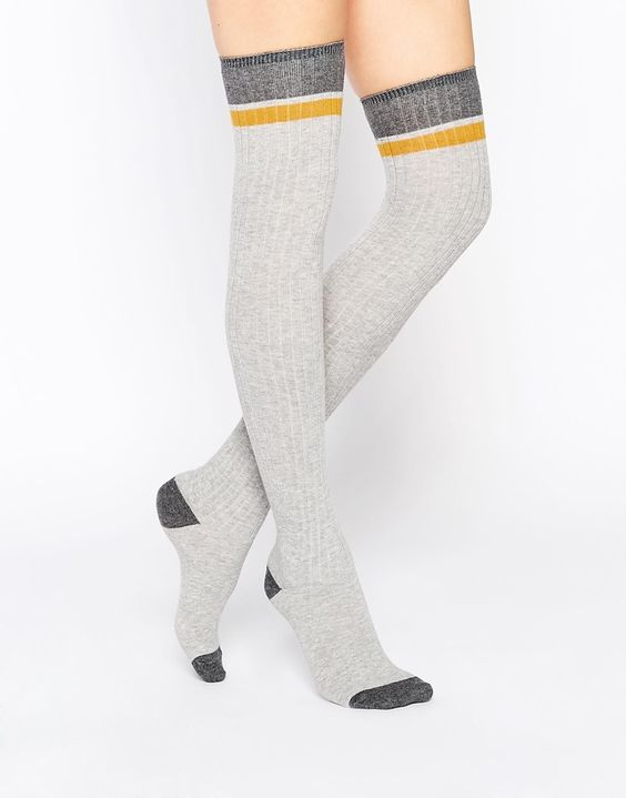 Image 1 - Monki - Chaussettes montantes color block