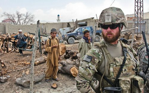 #MilitaryAndWeapons  ...... Afghan village patrol in Paktika province