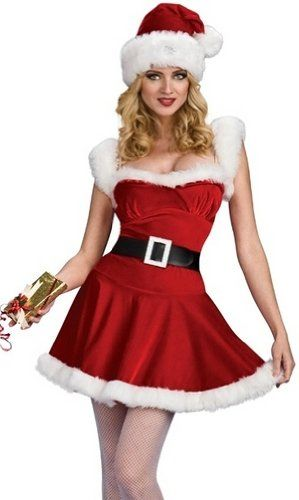 Sexy mrs santa claus helper christmas holiday costume