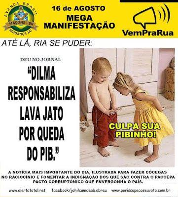 """CLICK NA IMAGEM : Dilma culpa Lava Jato pelo pibinho, e advogados da Odebrecht atacam Moro e PF por """"reality show judiciário"""""""