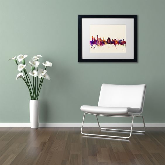 Michael Tompsett 'Liverpool Skyline' Matted Framed Art