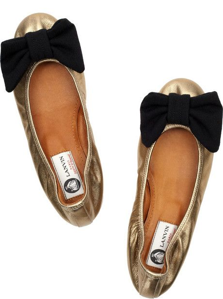 {Lanvin} Bow-Front Flat