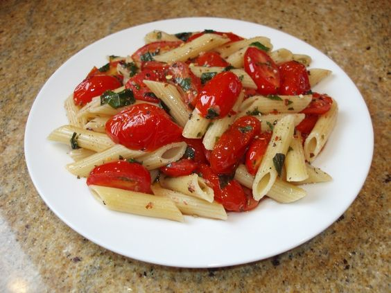Penne & Cherry Tomatoes - Recipes and Ramblings in Italy